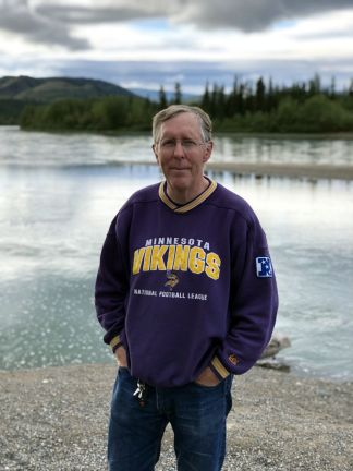 Phil on banks of Yukon River