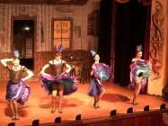 Cancan girls on Monday night