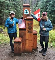 Jess and Jarrod at PCT Terminus