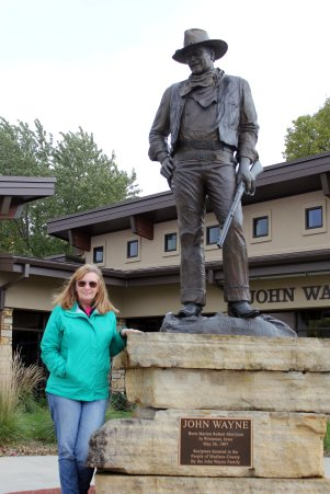 Jan with John Wayne