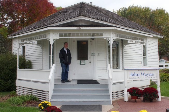 Phil at John Wayne's birthplace