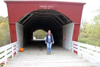Jan on Roseman Bridge (built 1883)