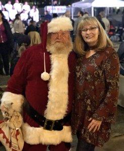 Jan with Santa