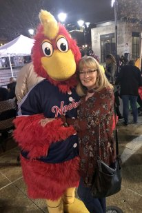 Jan with Nashville Sound mascot