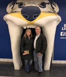 Jand and Phil at Predators' game