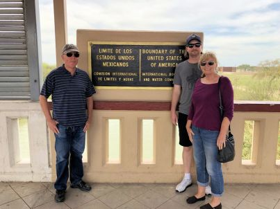 Phil, Jason and Jan at the border