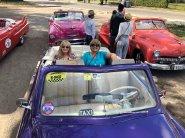 Jan and Lori on Classic Car tourof Havana
