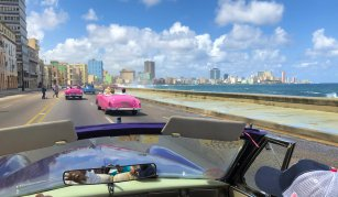 Havana shoreline from Classic Car tour