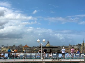 Farewell view of Havana from cruise ship