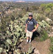Phil among cacti