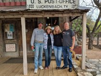 Posting at the Luckenbach Post Office