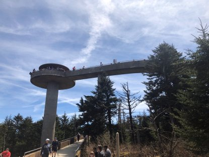 Observation deck at top of Clingmans Dome