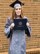 Lizzi with diploma