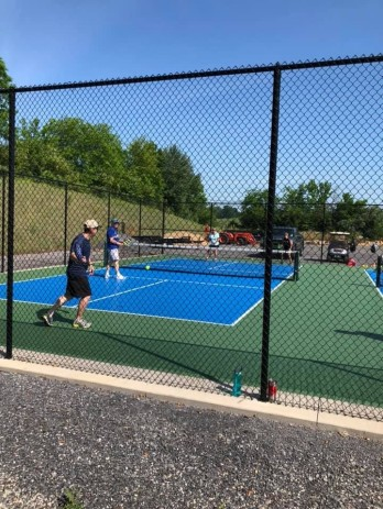 Phil playing pickleball