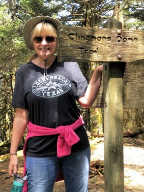 Jan on Clingmans Dome Trail