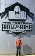 Phil in front of Hall of Fame