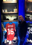 Jan at Joe Montana display