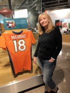 Jan atPeyton Manning display