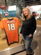 Jan atPeyton Manning display