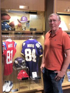 Phil at Randy Moss display