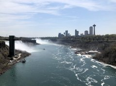 View of falls from Rainbow Bridge