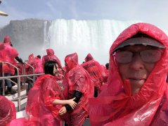 Phil on Hornblower as it approaches American Falls