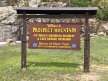 Prospect Mountain sign