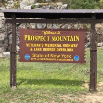 Prospect Mountain sign