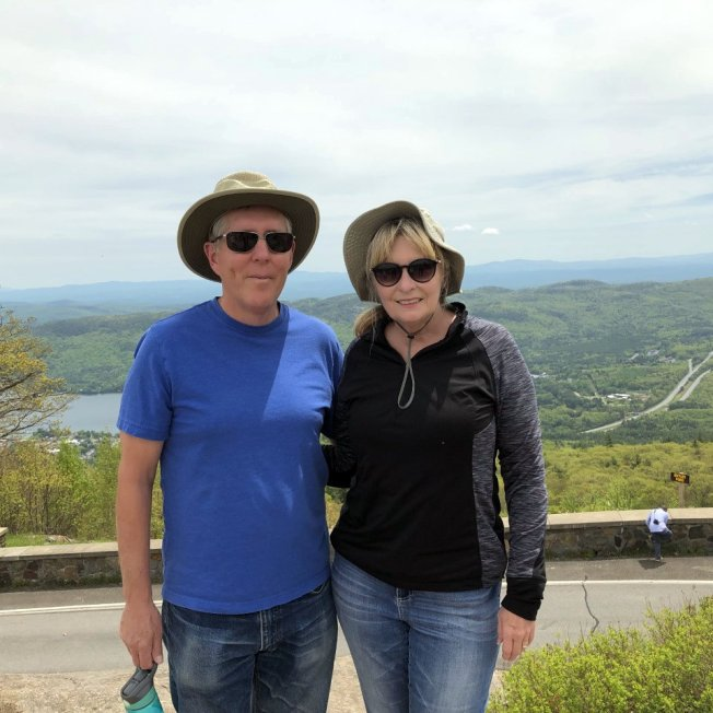 Phil and Jan at summit of Prospect Mountain