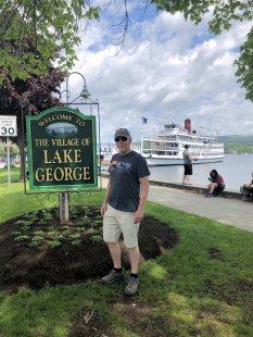 Phil at Lake Gorge sign