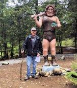 Phil with caveman