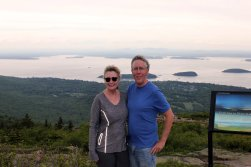 Jan & Phil at Cadillac Mountain summit