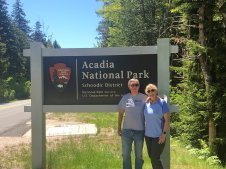 Phil & Jan at Acadia NP sign