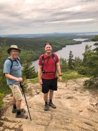 Phil & Jason overlooking Long Lake
