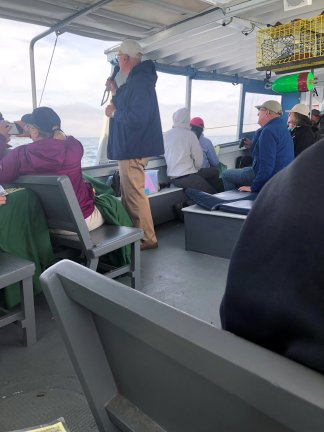 Tour guide on boat cruise
