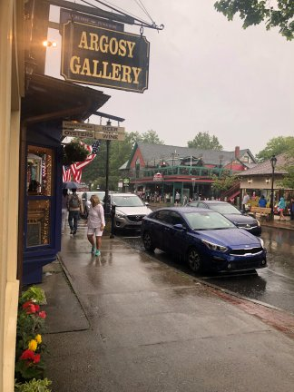 A rainy day in Bar Harbor