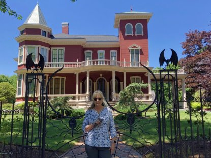 Jan at Stephen King's house