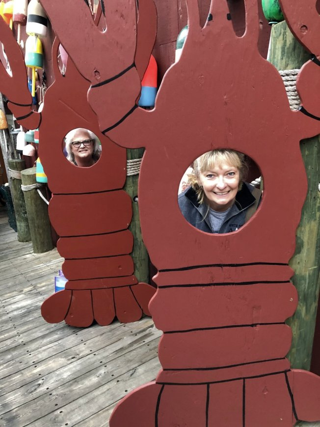 Sheila & Jan as lobsters