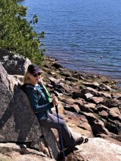 Jan at Somes Sound overlook