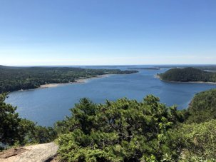 View of SomesSound from Acadia Mountain Trail