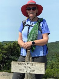 Jan at Gorham Mountain summit