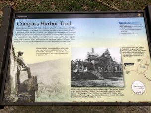 Compass Harbor Trail sign