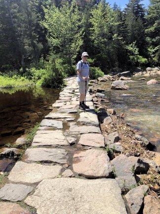 Phil on Jordan Pond Trail