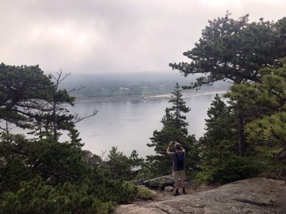 Phil at Somes Sound overlook