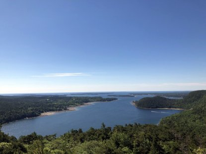 View from near summit of Acadia Mountain Trail