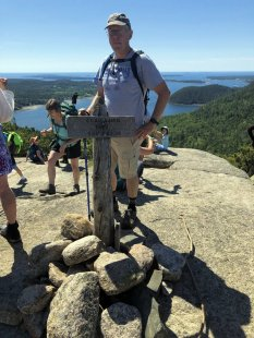 Phil at Acadia Mountain summit