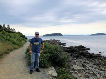 Phil on Bar Harbor Shore Path