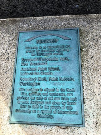 Plaque on SunSweep sculpture