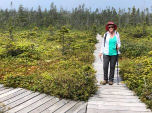 Jan on Bog Trail
