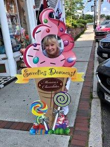 Jan at Monica's Chocolates on Water Street